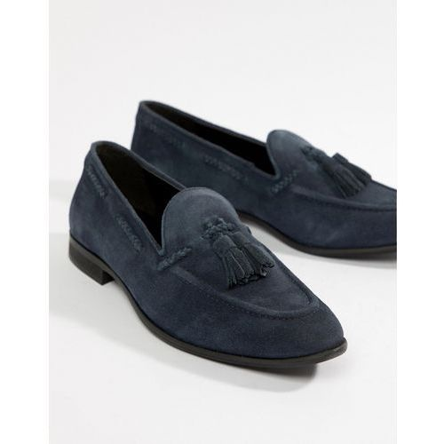Kg by kurt geiger wide fit tassel loafers in navy suede - blue, Kg kurt geiger