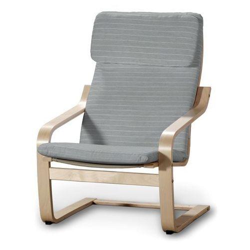 Dekoria poduszka na fotel poäng, szary w białe paski, fotel poäng, aspen