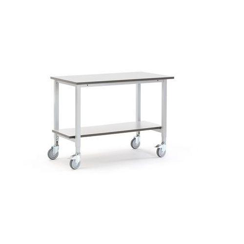 Aj produkty Mobilny stół roboczy motion, 1200x600 mm, z dolną półką, szary