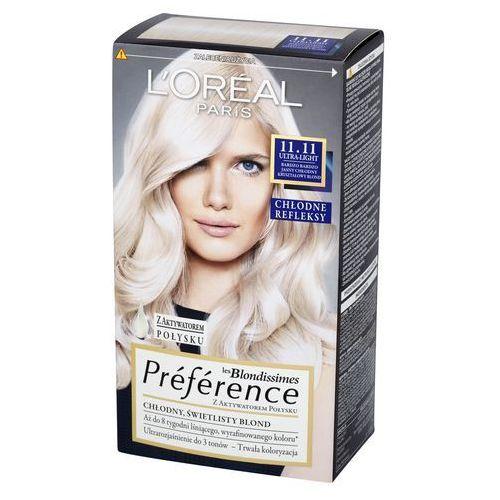 Loreal L'oreal paris, les blondissimes preference. farba do włosów, 11.11 ultra-light - l'oreal paris darmowa dostawa kiosk ruchu (3600523018239)
