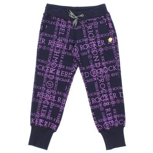 John richmond  spodnie dresowe dziecięce niebieski fioletowy 6 lat