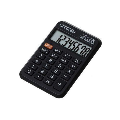 Citizen * kalkulator kieszonkowy * 8-pozycyjny wyświetlacz * zasilanie bateryjne * gumowe klawisze * etui * wymiary 58x87x12 mm * waga 40 g