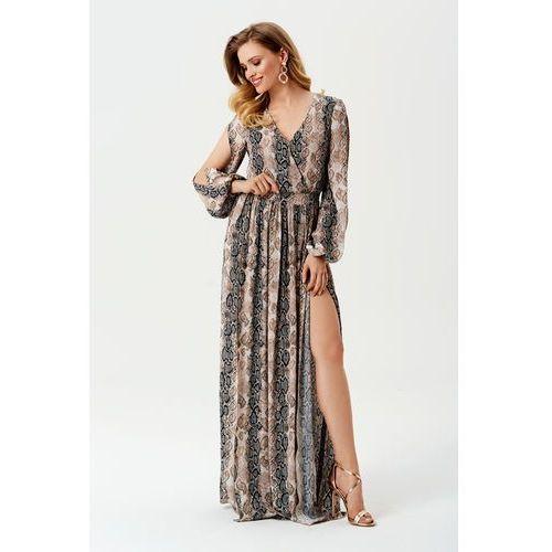 Sukienka Penelopa w wężowy wzór