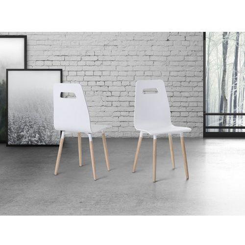 Krzesło białe - do jadalni - do kuchni - drewniane - BOVIO, kolor biały