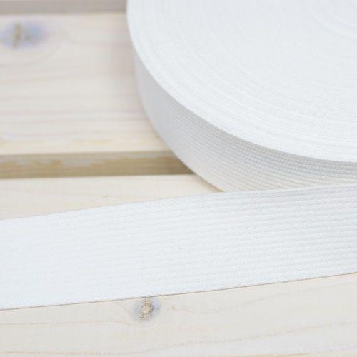 Taśma nośna Bawełniana 30mm Biały
