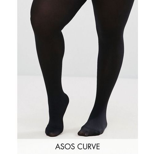 ASOS CURVE Super Stretch New Improved Fit 90 Denier Tights - Black