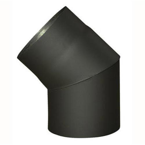M.A.T Group kolano kominowe, 120mm/45°, gr. 1,5mm, czarne (8595203600024)