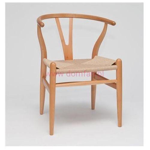 Krzesło Wicker inspirowane Wishbone - naturalny (5902385707848)