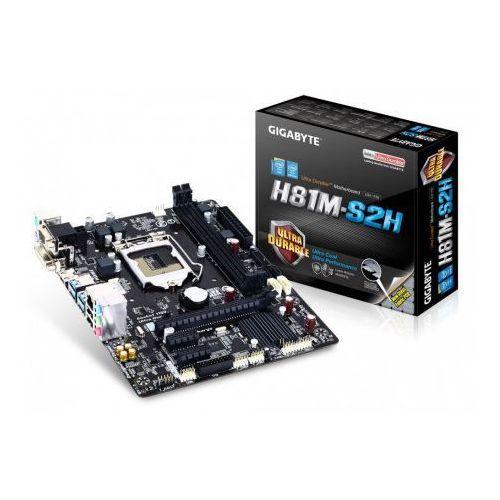 Gigabyte GA-H81M-S2H, H81, LGA1150, VGA, GLAN, SATA3, USB3, DDR3