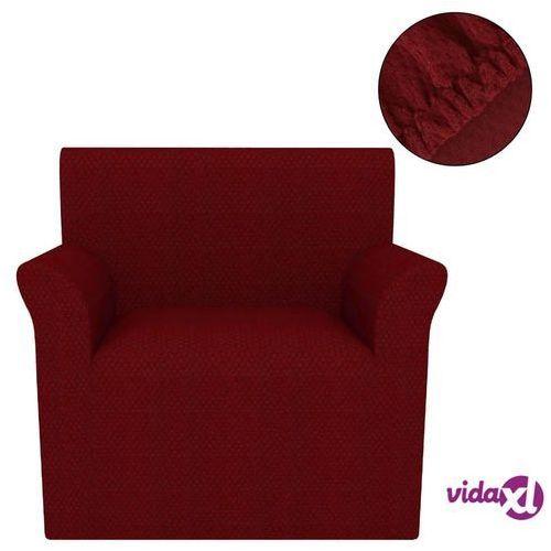 Vidaxl elastyczny pokrowiec na fotel, pikowany, burgundowy