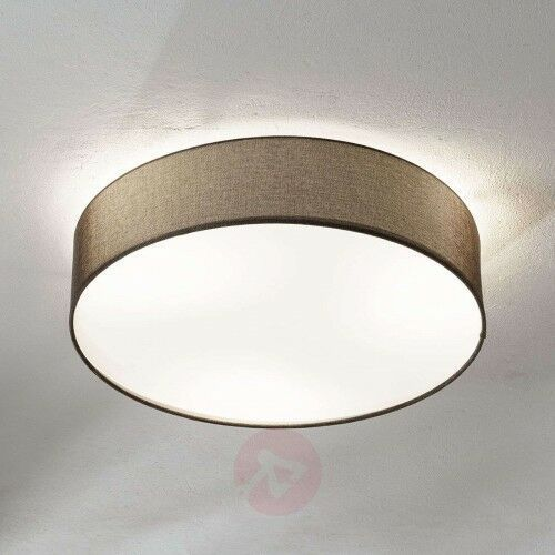 Brązowa, tkaninowa lampa sufitowa Pasteri, 57 cm