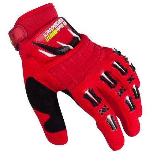Motocyklowe rękawice kader antypoślizgowe, czerwony, xl, W-tec