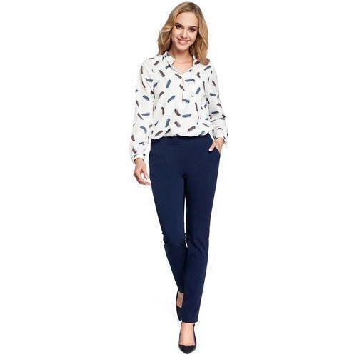 Eleganckie Granatowe Spodnie Cygaretki, w 5 rozmiarach