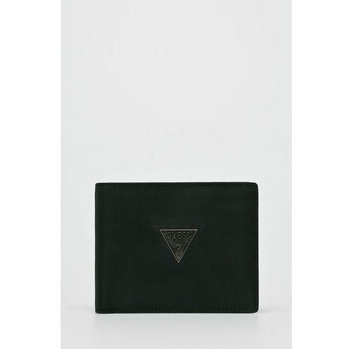 Guess jeans - portfel skórzany clermont
