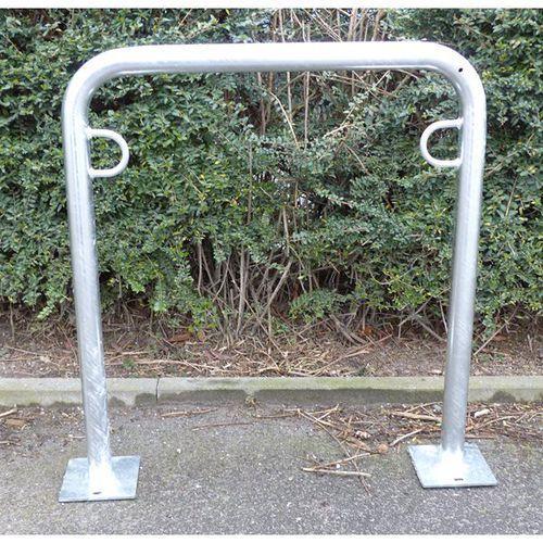 Melzer metallbau gmbh & co. kg Pałąk wsporczy do rowerów, wys. 850 mm ponad podłożem, do zakotwienia, ocynkowan