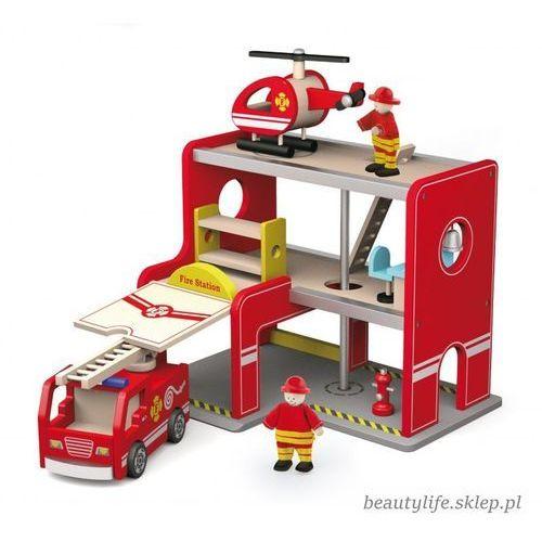 Viga toys Drewniana stacja remiza strażacka garaż akcesoria wóz strażacki (6934510508289)