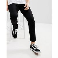 rebel pant in slim tapered fit in black - black, Carhartt wip