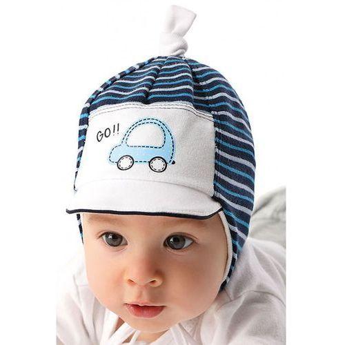 Marika Czapka niemowlęca wiązana 5x34a2