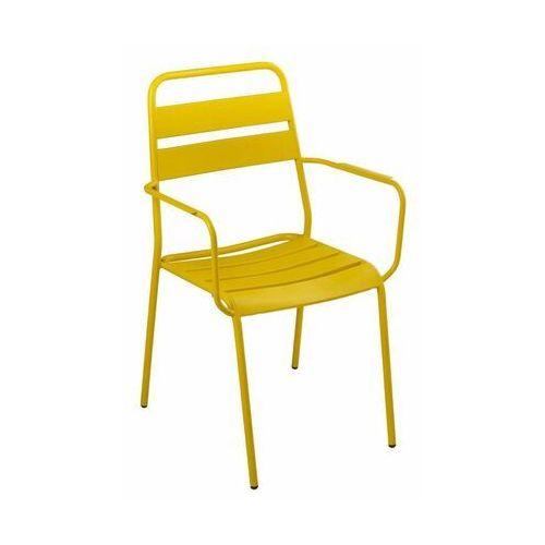 Naterial Krzesło ogrodowe malmo stalowe żółte (8424385167103)