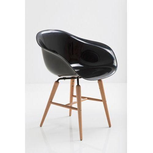 :: krzesło forum wood czarne - kare design:: krzesło forum wood czarne ||srebrny marki Kare design