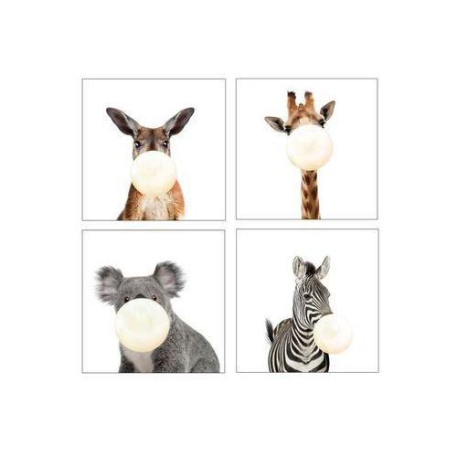 Consalnet Obraz na pilśni zwierzątka 4 elementy 30 x 30 cm (5903011054565)