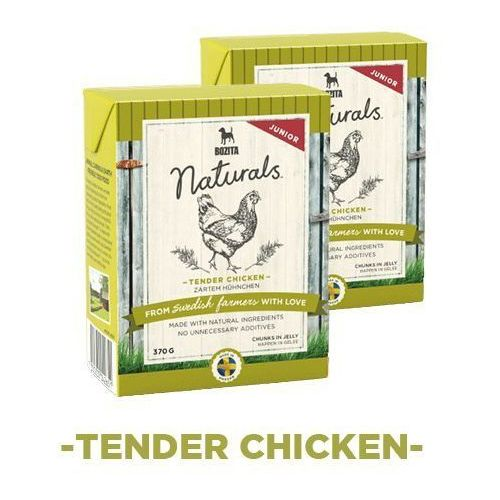 naturals junior - karma dla psów, delikatny kurczak, 370 g marki Bozita