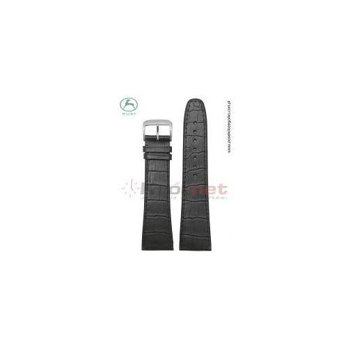 Pasek Kuki 0210/24XL - czarny, faktura krokodyla, long