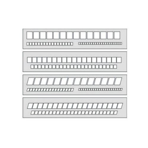 Szablon okienkowy pochyły 20mm/7,5mm/5mm x1