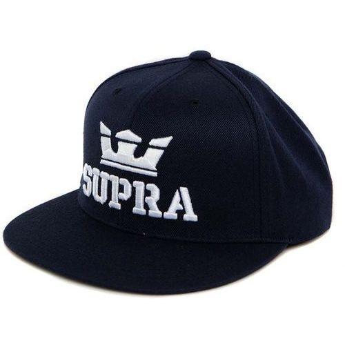 Czapka z daszkiem - above snap navy-white (406) rozmiar: os marki Supra