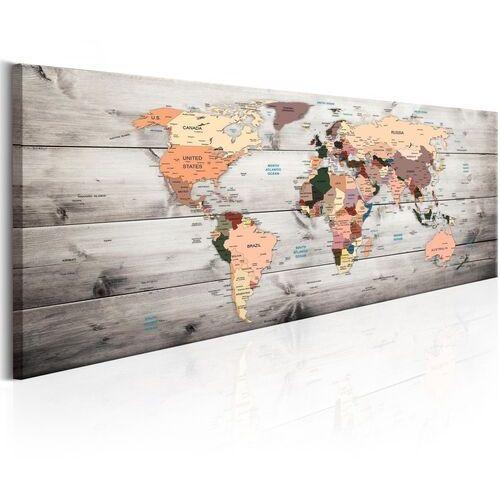 Obraz - mapy świata: drewniane podróże marki Artgeist
