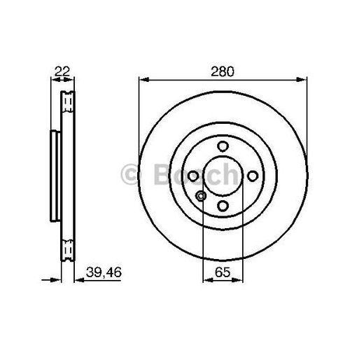 Bosch tarcza hamulcowa; przednia, 0 986 478 508 (4047024199675)