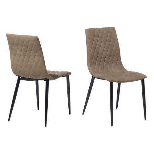 Zestaw do jadalni 2 krzesła beżowe MONTANA (7105279436499)