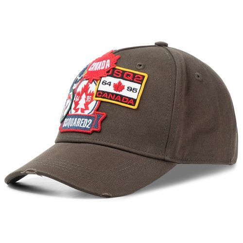 Czapka z daszkiem - patch cargo baseball caps bcm0242 05c00001 8066 militare marki Dsquared2