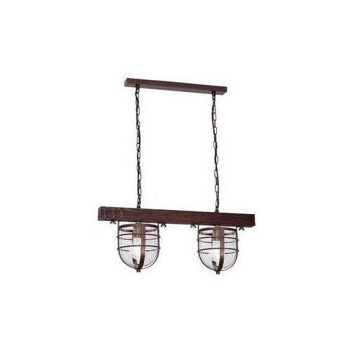 Lampa wisząca ANDER 2xE27/60W/230V ciemnobrązowa, 7619