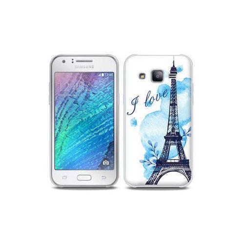 Etuo full body slim fantastic Samsung galaxy j5 - etui na telefon full body slim fantastic - niebieska wieża eiffla