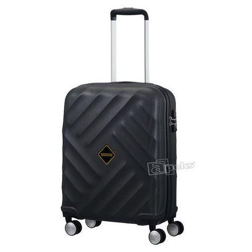 American Tourister Crystal Glow mała walizka kabinowa 20/55 cm / czarna - Galaxy Black (5414847694646)