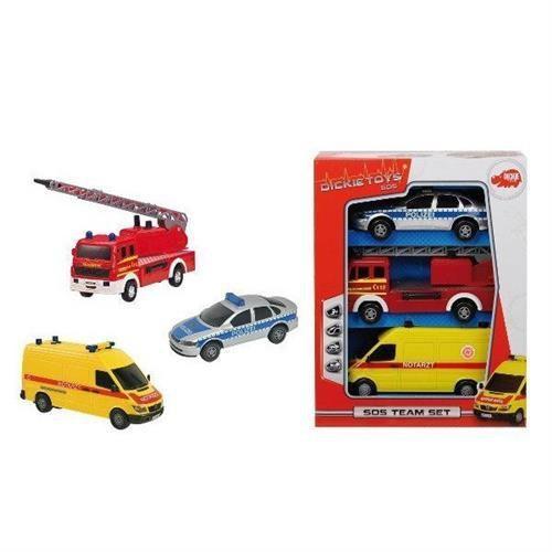 Dickie toys Sos team zestaw 3 pojazdów ratunkowych