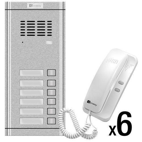 Zestaw domofonowy 6 rodzinny wl-02ne-6 marki Genway