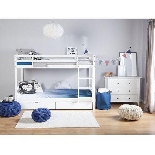 Łóżko piętrowe drewniane białe 90 x 200 cm radon marki Beliani