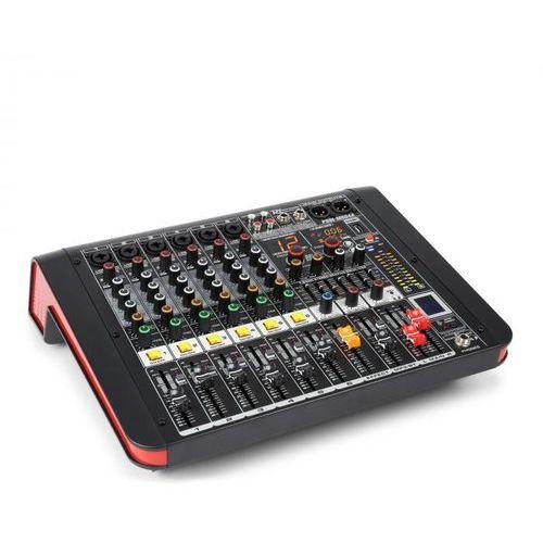 Power dynamics pdm-m604a mikser muzyczny 6 wejść mikrofonowych 24-bitowy procesor multi fx odtwarzacz usb (8715693290806)