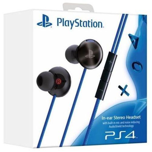 Słuchawki SONY In-Ear Headset PS4 Czarno-Niebieski (0711719895138)