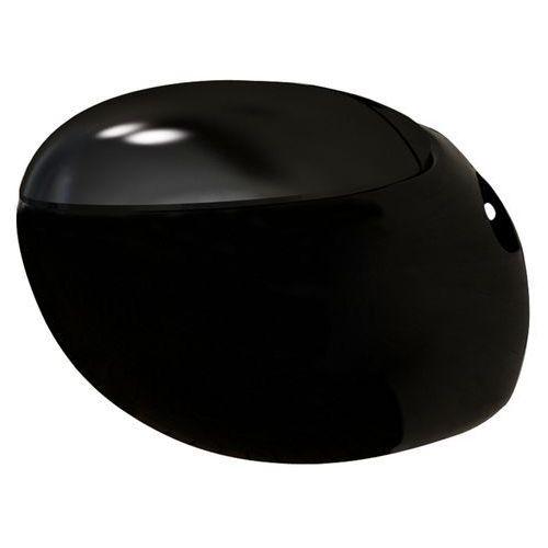 toaleta wisząca o oryginalnej formie jaja, czarna marki Vidaxl