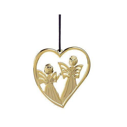 Ozdoba świąteczna serce z aniołami Karen Blixen, złote - Rosendahl (5709513326113)