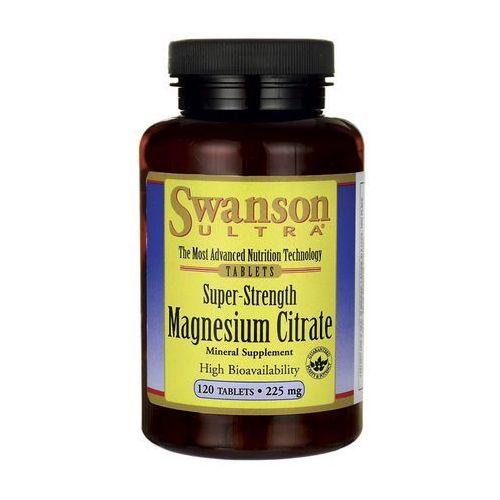 Tabletki Swanson Cytrynian Magnezu 225mg 120 tabl.