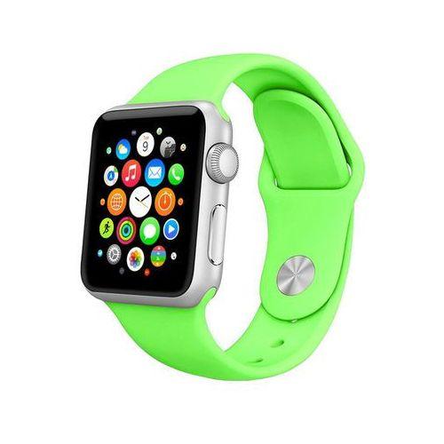 4kom.pl Pasek sportowy silikonowy apple watch 42mm zielony - zielony