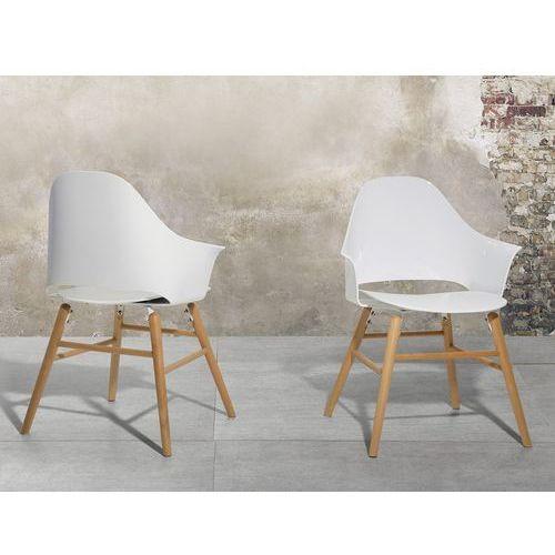 Krzesło białe - Krzesło do jadalni, do salonu - krzesło kubełkowe - BOSTON