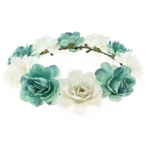 Wianek opaska duże kwiaty biały morski - biały morski marki Iloko