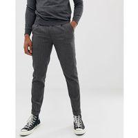 Burton menswear smart trousers in mid grey pin stripe - grey
