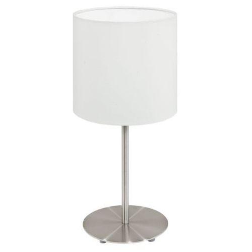 Lampa stołowa Eglo Pasteri 95725 z abażurem 1x40W E14 biała (9002759957254)