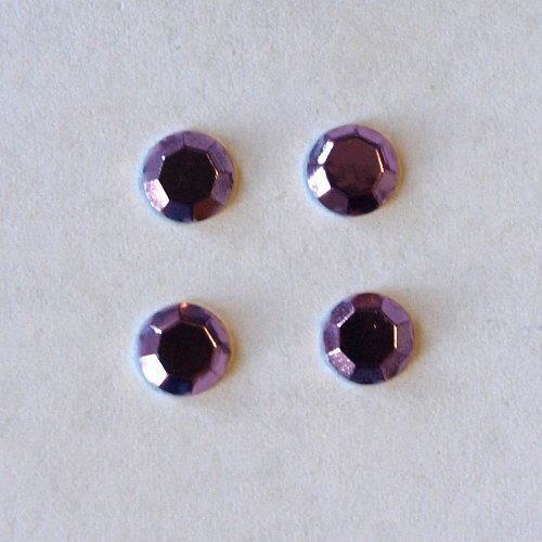 Dżety hot fix okrągłe 5mm/16szt. - liliowy - lil marki Pentart